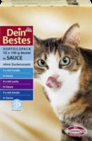 Nassfutter für Katzen, Vorteilspack Beutel in Sauce mit Fisch, 12 x 100g