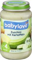Gemüse Zucchini mit Kartoffeln nach dem 4. Monat
