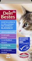Nassfutter für Katzen, Vorteilspack Schale klassisch mit MSC-zertifiziertem Fisch, 8 x 100g