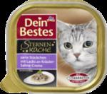 Sternenküche Nassfutter für Katzen, Zarte Stückchen mit Lachs an Kräuter-Sahne-Creme