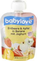 Quetschbeutel Erdbeere & Apfel in Banane mit Joghurt ab 1 Jahr