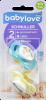 Schnuller aus Latex, symmetrisch, Größe 2, 5-18 Monate, Ananas / Bus