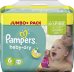 Windeln Baby-Dry, Größe 6 Extra Large, 15+kg, Jumbo Plus Pack