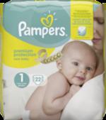 Windeln premium protection New Baby, Größe 1 New Born, 2-5 kg