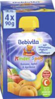 Quetschbeutel Kinder-Spaß Banane, Apfel & Aprikose mit Joghurt ab 1 Jahr, 4x90g
