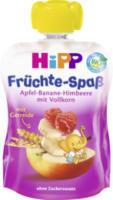 Quetschbeutel Früchte-Spaß Apfel-Banane-Himbeere mit Vollkorn ab 1 Jahr