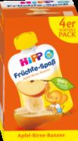 Quetschbeutel Früchte-Spaß Apfel-Birne-Banane ab 1 Jahr, 4x90g