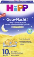 Gute-Nacht! Milch-Getreide-Mahlzeit ab 10. Monat