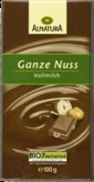 Vollmilch Schokolade mit ganzen Nüssen