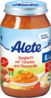 Menü Spaghetti mit Tomaten und Mozzarella ab 8. Monat