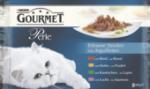 Nassfutter für Katzen, Perle Erlesene Streifen mit Rind, Huhn, Kaninchen und Lachs, Multipack 4x85g