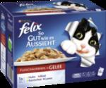 Nassfutter für Katzen, So gut wie es aussieht, Fleisch mit Huhn, Rind, Lamm & Kaninchen in Gelee, Multipack 12x100g