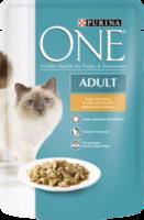 Nassfutter für Katzen, Adult mit Huhn & grünen Bohnen in Soße
