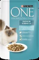 Nassfutter für Katzen, Indoor Formula mit Thunfisch & grünen Bohnen in Soße