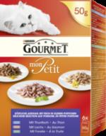 Nassfutter für Katzen, Mon Petit mit Fisch, Multipack 6x50g