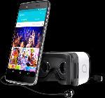 Smartphones - Alcatel Idol 4 inkl. VR Brille 16 GB Grau Dual SIM