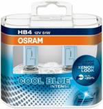 OSRAM COOL BLUE INTENSE HB4 Halogen-Scheinwerferlampe 9005CBI, bis zu 20% mehr Licht, 2 Stück