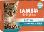 Nassfutter für Katzen, Junior, Delights, Huhn in Sauce, Multipack 12 x 85g