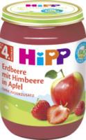 Früchte Erdbeere mit Himbeere in Apfel nach dem 4. Monat