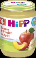 Früchte Banane & Pfirsich in Apfel nach dem 4. Monat