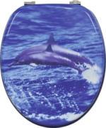 MDF-WC-Sitz Motiv Delphin