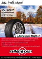 5% Rabatt auf Kompletträder bei reifen.com