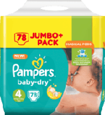 Windeln Baby-Dry, Größe 4 Maxi, 8-16 kg, Jumbo+ Pack