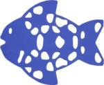 Antirutschfiguren Fisch 6er-Pack royalblau