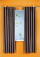 Vorhang Linus, Verdunkelungsqualität, ca. 140 x 175 cm, braun