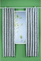 """Vorhang """"Ester"""" mit Gardinenband, ca. 135 x 175 cm, silber"""