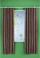 "Vorhang ""Ester"" mit Gardinenband, ca. 135 x 175 cm, schoko"
