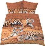 """Microfaser-Fotodruck-Bettwäsche """"Tiger"""""""