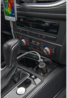 4smarts Hybrid 2.0 KFZ-Lader black reversible metal 3.1A Dual USB-Port NEU OVP