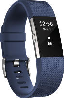 Fitnesstracker - Fitbit Charge 2 Large, Activity Tracker, 165-206 mm, Blau/Silber