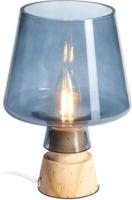 Lampe mit Holzfuß