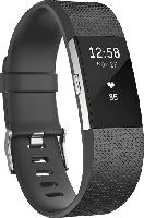 Fitnesstracker - Fitbit Charge 2 Large, Activity Tracker, 165-206 mm, Schwarz/Silber