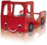 ROLLER Autobett, Kinderbett Heat - Feuerwehrauto - Glanzlack - 90x200 cm