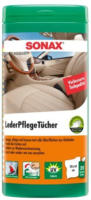 SONAX 412300 LederPflegeTücher Box 25 Stück