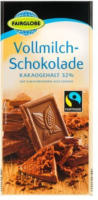 FAIRGLOBE Vollmilch-Schokolade 32 % Kakao
