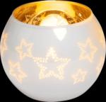 Glas-Teelichthalter, Höhe: 8,5 cm