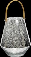 Glas-Windlicht, Höhe: 26 cm
