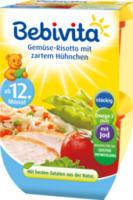 Kindermenü Gemüse-Risotto mit zartem Hühnchen ab 12. Monat, 2x250g