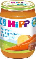 Babymenü Karotten mit Kartoffeln und Bio-Rind nach dem 4. Monat