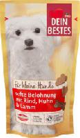 Snack für Kleine Hunde, Softe Belohnung mit Rind, Huhn & Lamm