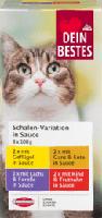 Nassfutter für Katzen, Vorteilspack Schalen in Sauce, 8 x 100 g