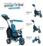 smarTrike Europe - SmarTrike Kinderdreirad - Glow - blau mit Dach