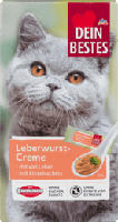 Snack für Katzen, Leberwurst-Creme mit viel Leber, 8 St