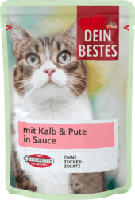 Nassfutter für Katzen mit Kalb & Pute, in Sauce