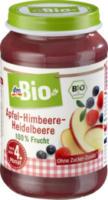Früchte Apfel-Himbeere-Heidelbeere nach dem 4. Monat