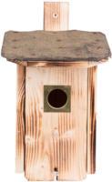 Nistkasten für Stare aus Fichtenholz mit Dachpappe